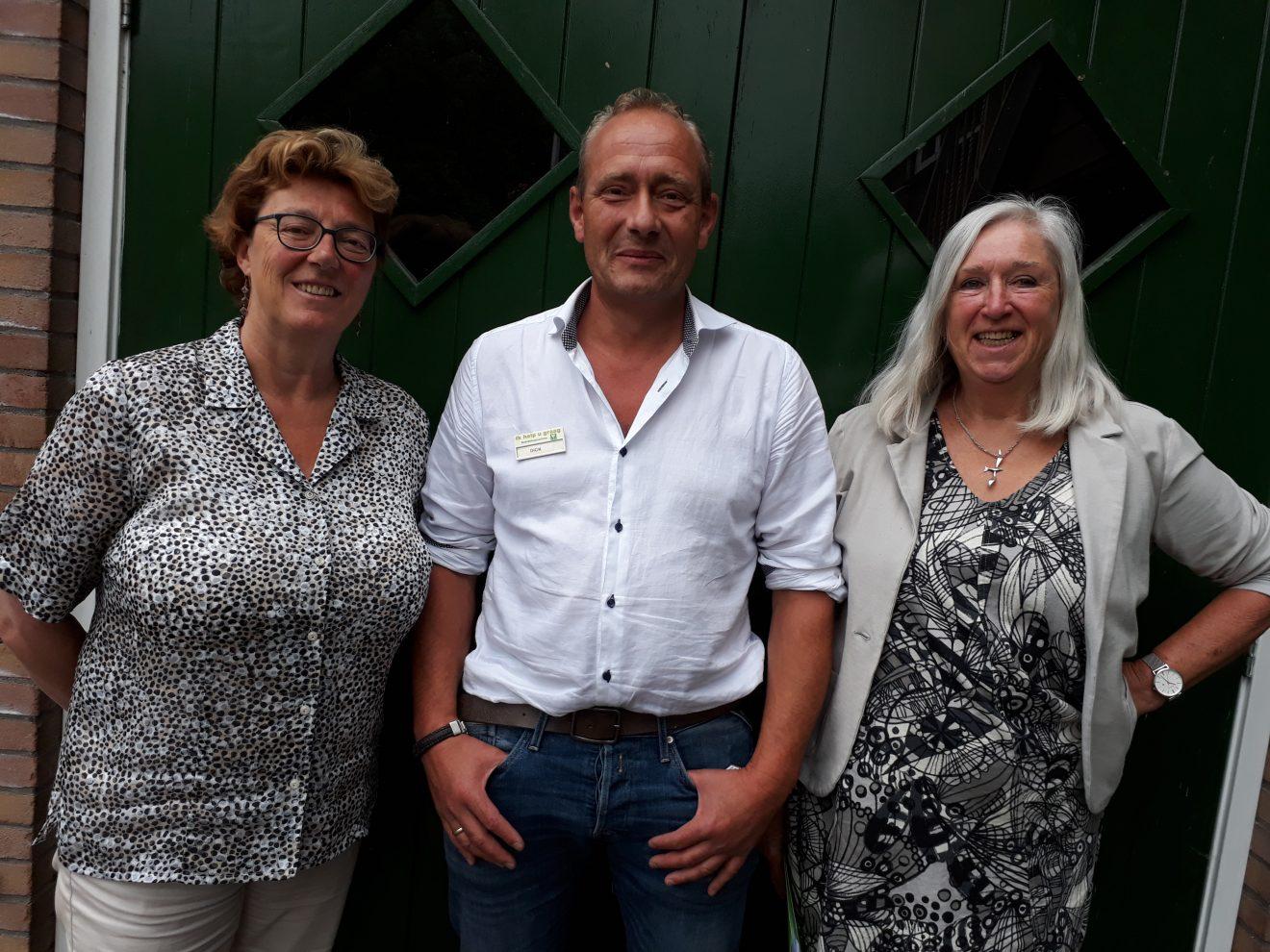 Bestuur stichting Fairtrade Bodegraven-Reeuwijk; Voorzitter – Marlou Min - Secretaris - Lisbeth Hertogh - Penningmeester – Dick Hoogendoorn
